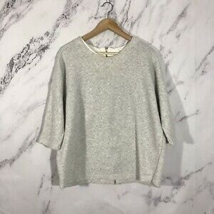 COS Oversized Gray Sweatshirt Zipper Back Closure